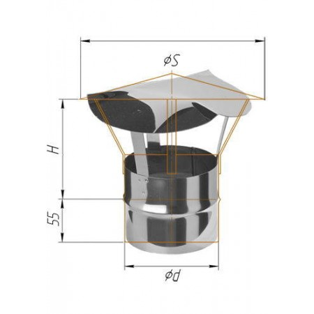 Зонт-К (430/0,5 мм) Ø 200