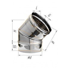 Колено (439/0,8 мм) угол 135° Ф 220