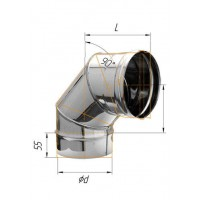 Колено (439/0,8 мм) угол 90° Ф 220