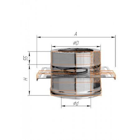 Площадка монтажная (нерж. сталь 2мм) Ф 250х350 К