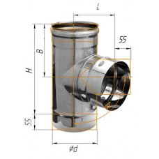 Тройник-К 90° (439/0,8 мм) Ф 280