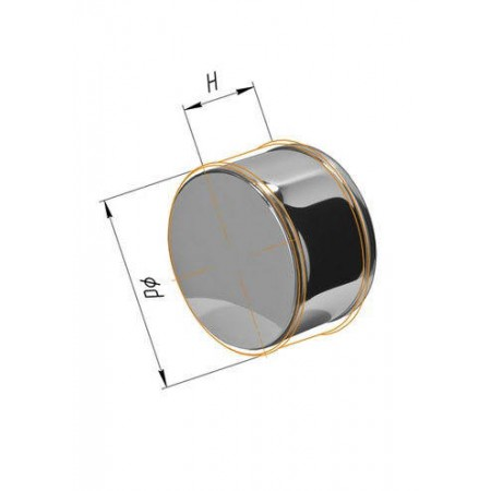 Заглушка (430/0,5 мм) Ф 300 внешняя