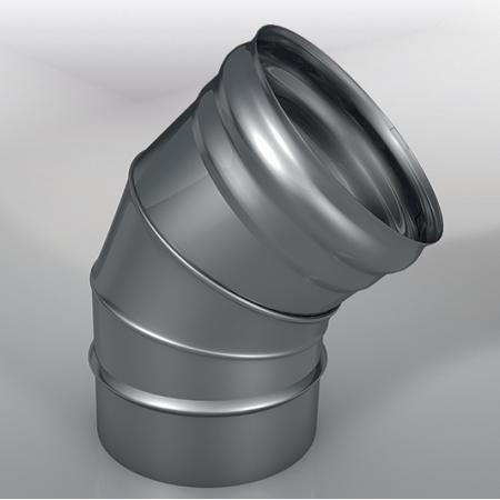 Отвод 45° DOM Моно, диаметр 120 мм