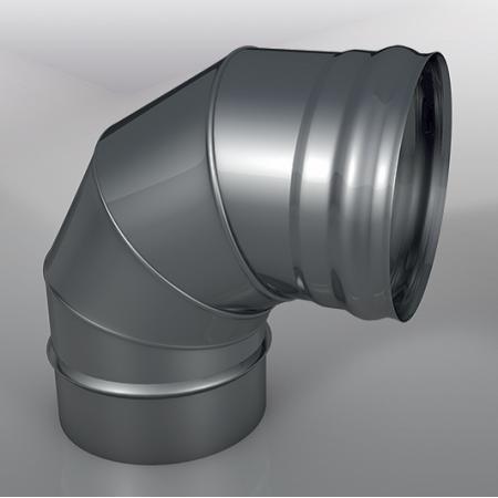 Отвод 90° DOM Моно, диаметр 150 мм