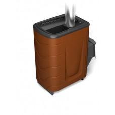 Дровяная банная печь Тунгуска 2011 Carbon ДА терракота
