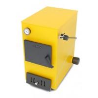 Ташкент 12 Электро, 12кВт, АРТ, ТЭН 6 кВт, желтый - Котел твердотопливный водогрейный стальной