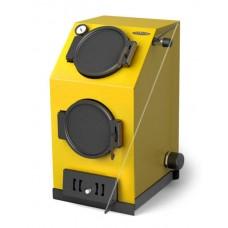Прагматик Электро, 20кВт, АРТ, ТЭН 6кВт, желтый - Котел твердотопливный водогрейный стальной