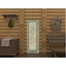 Дверь со стеклом для бани-2