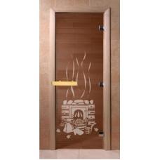 Стекляная дверь Doorwood Банный день бронза