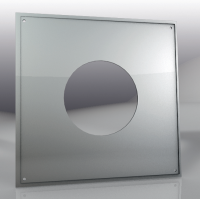 Лист потолочный универсальный 500*500мм/ 430 (0,5мм), 180 мм
