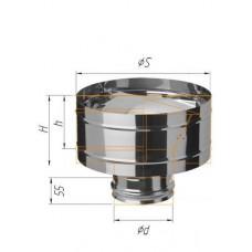 Зонт-К с ветрозащитой (430/0,5 мм) Ф 80