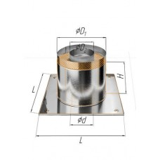 Потолочно проходной узел (430/0,5 мм+термо) Ф 80