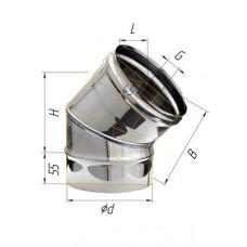 Колено (439/0,8 мм) угол 135° Ф 110
