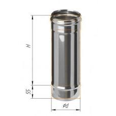 Дымоход L=0,5м (439/0,8 мм) Ф 130