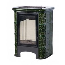 Печь-Камин «София» Барокко зеленая