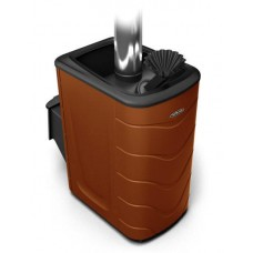 Дровяная банная печь Гейзер 2014 Carbon ДА ЗК терракота
