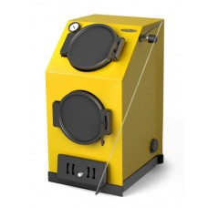 Прагматик Автоматик, 20кВт, АРТ под ТЭН, желтый - Котел твердотопливный водогрейный стальной