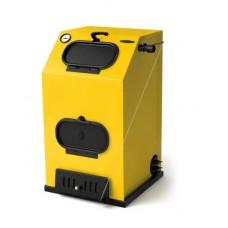 Прагматик Электро, 25 кВт, АРТ, ТЭН 9 кВт, желтый - Котел твердотопливный водогрейный стальной