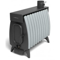 Дровяная отопительная печь Огонь-батарея 11 ЛАЙТ антрацит-серый металлик